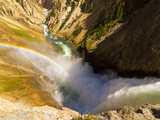 Rainbow over Yellowstone Falls, Wyoming, USA, Colorado Photographic Print by Cathy & Gordon Illg