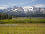 Meadow and Mountains, Sawtooth National Recreation Area, Idaho, USA Photographic Print by Jamie & Judy Wild