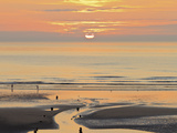 Sunset and Beach, Blackpool, England Photographic Print by Paul Thompson