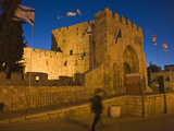 Night View of Gaffe Gate in the Old Town, Jerusalem, Israel Photographic Print by Keren Su