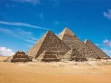 Pyramids, Giza, Cairo, Egypt Fotografisk tryk af Miva Stock