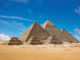 Pyramids, Giza, Cairo, Egypt Photographic Print by Miva Stock