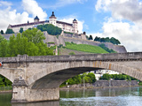 Marienberg Fortress, Wurzburg, Bavaria, Germany Photographic Print by Miva Stock