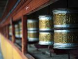 Prayer Wheels, Hemis, Ladakh, India Photographic Print by Anthony Asael