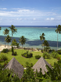 Crusoe's Retreat and Coral Reef, Coral Coast, Viti Levu, Fiji, South Pacific Photographic Print by David Wall