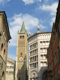 The Cathedral and the Baptistery, Parma, Emilia Romagna, Italy Photographic Print by Nico Tondini
