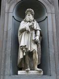 Statue of Leonardo Da Vinci, Uffizi, Florence (Firenze), UNESCO World Heritage Site, Tuscany, Italy Photographic Print by Nico Tondini