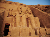 Statues, the Greater Temple, Abu Simbel, Egypt Fotografie-Druck von Miva Stock