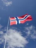 Norwegian Flag, Bergen, Norway Photographic Print by Cindy Miller Hopkins
