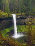 South Falls in Spring: Silver Falls State Park, Oregon, USA Photographic Print by Michel Hersen