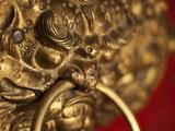 Dragon Head Door Grip, Likir, Ladakh, India Photographic Print by Anthony Asael