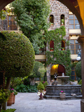 Courtyard, San Miguel De Allende, Mexico Photographic Print by Alice Garland