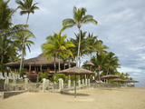 Beach at Outrigger on the Lagoon Resort, Coral Coast, Viti Levu, Fiji, South Pacific Photographic Print by David Wall