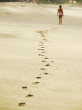 Sand Footprints, Mazunte, Mexico Photographic Print by Anthony Asael