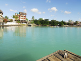 Small Teddy Bear on Pier, Grand Baie, Mauritius Photographic Print by Anthony Asael