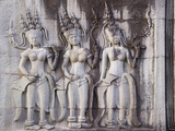 Details of Relief at Angkor Wat, Cambodia Photographic Print by Keren Su