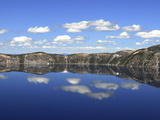 Crater Lake Reflections, Crater Lake National Park, Oregon, USA Photographic Print by Michel Hersen