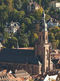 Heidelberg's Old Town with Church of Holy Ghost (Spirit), Heidelberg, Germany Photographic Print by Michael DeFreitas