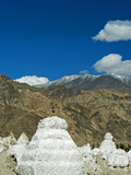 White Stupa Forest, Shey, Ladakh, India Photographic Print by Anthony Asael