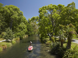 Punting on the Avon, Christchurch, Canterbury, South Island, New Zealand Photographic Print by David Wall