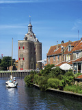 Drommedaris Tower Above Classic Dutch Vessels, Enkhuizen, Netherlands Photographic Print by Miva Stock