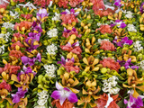 Flower Necklaces and Crowns at Papeete Market, Tahiti, French Polynesia Photographic Print by Roberto Gerometta