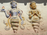 Indian and Buddhist Gods on Temple, Thiksey, Ladakh, India Photographic Print by Anthony Asael