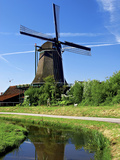Windmills, Zaanse Schans, Zaanstad, Netherlands Photographic Print by Miva Stock
