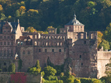 View of Heidelberg's Old Town and Heidelberg Castle from the Philosophenweg, Heidelberg, Germany Photographic Print by Michael DeFreitas