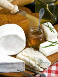 French Cheeses and Honey, France Photographic Print by Nico Tondini