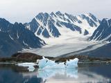 Receding Glacier, Liefderfjorden Fiord, Svalbard, Norway Photographic Print by Alice Garland