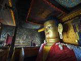 Golden Buddha, Shey, Ladakh, India Photographic Print by Anthony Asael