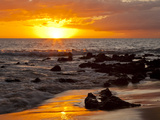Sunset, Kihei, Maui, Hawaii, USA Fotografiskt tryck av Cathy & Gordon Illg