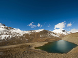 Landscape with Green Lake, Ladakh, India Photographic Print by Anthony Asael