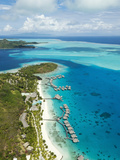 Bora Bora Nui Resort and Spa, Motu Toopua, Bora Bora, French Polynesia Photographic Print by Roberto Gerometta