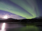 Aurora Borealis, Koyukuk River, Alaska, USA Photographic Print by Hugh Rose