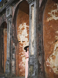 Girl in Ao Dai (Traditional Vietnamese Long Dress) and Conical Hat, Tomb of King Khai Dinh, Vietnam Photographic Print by Keren Su