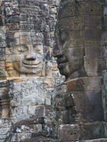 Buddhist Statues at Bayon Temple, Angkor Thom, Cambodia Photographic Print by Keren Su