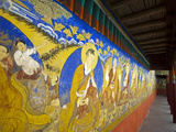 Colorful Wall Painting, Thiksey, Ladakh, India Photographic Print by Anthony Asael