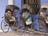 Rickshaws, Penang, Malaysia Photographic Print by Alida Latham
