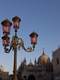 Ornate Lamp, Venice, Italy Photographic Print by Bill Young