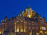 Night View of Chateau Frontenac Hotel, Quebec City, Canada Photographic Print by Keren Su