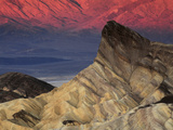 Manly Beacon at Dawn, Zabriskie Point, Death Valley National Park, California, USA Photographic Print by Michel Hersen