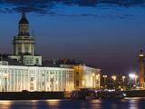 Kunstkamera Museum and Neva River, Saint Petersburg, Russia Photographic Print by Walter Bibikow