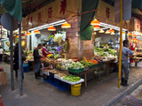 Street Market Vegetables, Hong Kong, China Photographic Print by Julie Eggers