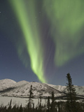 Aurora Borealis, Grayling Lake, Alaska, USA Photographic Print by Hugh Rose