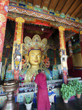 Golden Maitreya Buddha, Thiksey Monastery, Thiksey, Ladakh, India Photographic Print by Anthony Asael