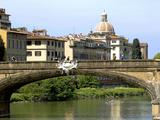 Ponte Santa Trinita, Arno River, Florence, UNESCO World Heritage Site, Tuscany, Italy Photographic Print by Nico Tondini