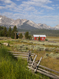 Red Barn, Stanley, Sawtooth National Recreation Area, Idaho, USA Photographic Print by Jamie & Judy Wild