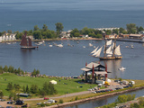 Tall Ships, Duluth Harbor, Duluth, Minnesota, USA Photographic Print by Peter Hawkins
